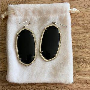 Black Kendra Scott Danielle earrings